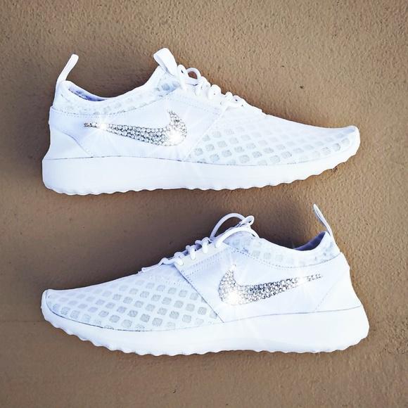 le scarpe nike cristallo swarovski bling juvenate poshmark bianco